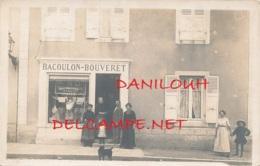 COMMERCE // CARTE PHOTO  /  MAGASIN DE NOUVEAUTES LINGERIE  BACOULON BOUVERET - Commerce