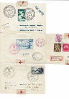 Lettre à Destinations Multiples/ Départ De Paris 16/11/1946 / Brooklyn / Bruxelles /  Paris-Croix Rouge / Paris Retour / - Croix-Rouge