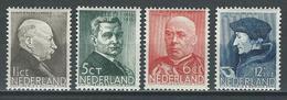 Niederlande NVPH 283-86, Mi 291-94  * MH - Periodo 1891 – 1948 (Wilhelmina)