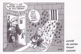 PLANTU   - Comite Soutien à Vincent Cochetel Otage Dans Le Caucase  - CPM  10.5x15 TBE 1998  Neuve Carte Pétition - Plantu
