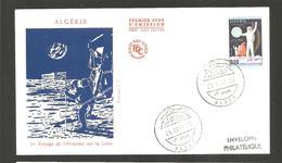 FDC  ALGERIE 1969 PREMIER VOYAGE DE L HOMME SUR LA LUNE - Algeria (1962-...)