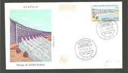FDC  ALGERIE 1969  BARRAGE DE  DJORF- TORBA - Algérie (1962-...)