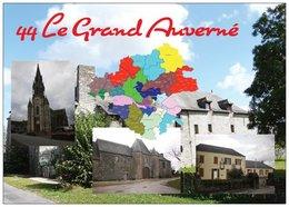44 - LE GRAND-AUVERNÉ -  3 Vues + La Carte Du Département De La Loire-Atlantique - Cpm - Vierge - - Francia