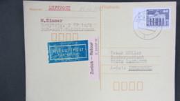 DDR WU: A-Luftpost-Karte Vom 2.10.90 Letzttag Der DDR Mit 40 Pf Brandenburger Tor Mit Li. Rand Nach Innsbruck Knr: 2541. - [6] Repubblica Democratica