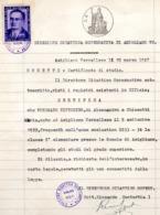 CERTIFICATO DI STUDIO CON BOLLO VITTIME POLITICHE - L.GASPAROTTO - £. 2 - 10.3.1947 - 6. 1946-.. Repubblica