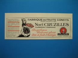 """(1937) Fabrique De Fruits Confits - NOËL CRUZILLES - Clermont-Ferrand -- """" LES SOEURS MACARONS """" - Georges APTEL à Nancy - Vieux Papiers"""