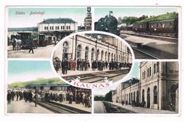 Lituania Russia Kaunas Stazione Bahnhof Gare  Train Treno  Inizio 900 - Lituania
