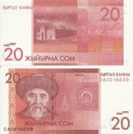 Kyrgyzstan - 20 Som 2016 UNC Lemberg-Zp - Kirghizistan