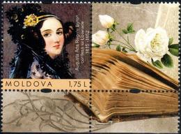 "Moldova 2015 ""200th Anniver. Of Augusta Ada King Byron,Countess Lovelace (1815-1852) - The First Female Programmer"" 1v - Moldova"