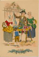 Illustrateur E. Naudy, Les Petits Métiers Au XVIII° : Le Marchand De Rubans (1946), M. Barré & J. Dayez, 1359 A, 2 Scans - Naudy
