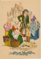 Illustrateur E. Naudy, Les Petits Métiers Au XVIII° : La Marchande De Cerises (1946) M. Barré & J. Dayez 1359 Y, 2 Scans - Naudy
