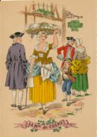 Illustrateur E. Naudy, Les Petits Métiers Au XVIII° : La Marchande De Crème (1946), M. Barré & J. Dayez, 1359 B, 2 Scans - Naudy
