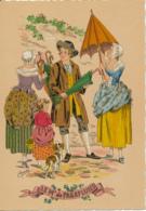 Illustrateur E. Naudy, Les Petits Métiers Au XVIII° : Le Marchand De Parapluies (1946) Barré & J. Dayez, 1359 V, 2 Scans - Naudy