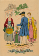 Illustrateur E. Naudy, Les Petits Métiers Au XVIII° : Le Marchand D' Oranges (1946). Barré & J. Dayez, 1359 Z, 2 Scans - Naudy