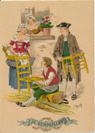 Illustrateur E. Naudy, Les Petits Métiers Au XVIII° : Le Rempailleur (1946). Barré & J. Dayez, 1359 J, 2 Scans - Naudy
