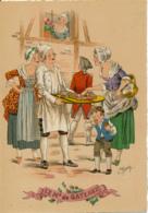Illustrateur E. Naudy, Les Petits Métiers Au XVIII° : Le Marchand De Gateaux (1946). Barré & J. Dayez, 1359 K, 2 Scans - Naudy