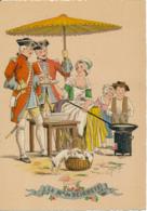 Illustrateur E. Naudy, Les Petits Métiers Au XVIII° : La Marchande De Beignets (1946). Barré & J. Dayez, 1359 L, 2 Scans - Naudy