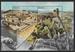 Malta (2016)  - Set -  /  Joint With San Marino - Castles - Chateaux - Architecture - Fortress - Emissioni Congiunte