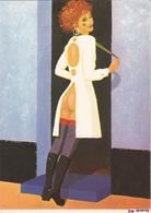 POTTE Jean Noel   - Femme Nue Bas Botte - CPM  10.5x15 BE 1979 Carte Manuscrite Du Dessinateur - Künstlerkarten