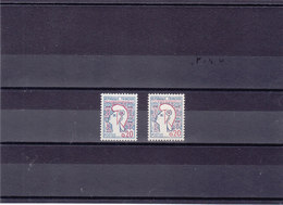 FRANCE 1961 MARIANNE DE COCTEAU Yvert 1282 + 1282a NEUF** MNH - France