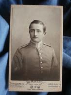 CDV Photo Rembrandt à Strasbourg , Haguenau I/e - Militaire Allemand Beau Portrait Circa 1900-10 L431 - Guerre, Militaire