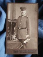 CDV Photo Alb. Fraatz In Darmstadt - Militaire Allemand Beau Portrait Circa 1900-10 L431 - War, Military
