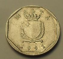 1991 - Malte - Malta - 5 CENTS - KM 95 - Malta