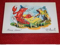 "1er AVRIL - "" Bonne Chance !! "" -  Emmanuel Cocart Illustrateur - 1er Avril - Poisson D'avril"