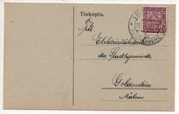 "Czechoslovakia 1936, Reichenberg-Liberec Business Card ""Osram"" To Goldenstein, Mahren - Interesting - Czechoslovakia"