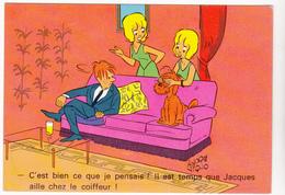 VIGNO André  Ed Borde N°100   - Humour Jumelles Jacques Coiffeur Chien - CPSM 10.5x15 BE  Neuve - Other Illustrators