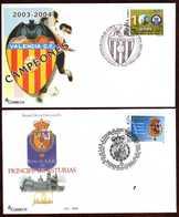 Girostamps54.- DOS SOBRES CON MATASELLOS ESPECIALES DE LA EXPOSICIÓN VALENCIA 2004 - 1931-Hoy: 2ª República - ... Juan Carlos I