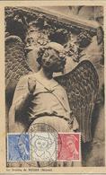 Carte Salon Du Prisonnier à Reims  , Timbres N°546-7yt, Mercure, Sourire De Reims, 21/5/1944, Timbre Et Cachet Au Dos Id - Cartes-Maximum