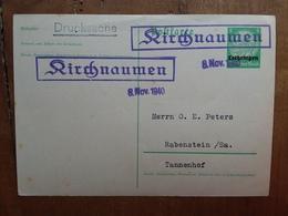 OCCUPAZIONI TEDESCHE 1940 - Cartolina Postale Tedesca Sovrastampata + Spese Postali - Zona Francese