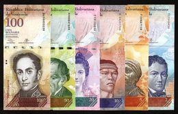 VENEZUELA - 2+5+10+20+50+100 Bolivares 2009-2015 {Pcs 6 Set} UNC P.88+89+90+91+92+93 - Venezuela