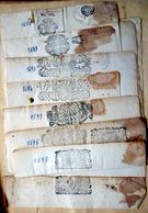 RARES CACHETS DE GENERALITE 17° ET 18° SIECLE SUR PAPIER VIERGE LOT DE 9 CACHETS TRES LISIBLES - Seals Of Generality