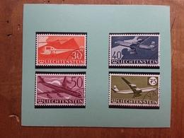 LIECHTENSTEIN - Posta Aerea Nn. A34/37 Timbrati + Spese Postali - Posta Aerea