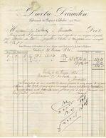 THULIN Facture De 1885 DUCOBU-DECAUDIN Fabricant De Papiers - Verso : Lettre Avec Timbre N°38 Oblitération BOUSSU 1885 - 1883 Leopold II