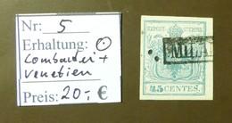 Lombardei Venetien   Michel Nr:  5  Gestempelt  #4996 - Levant Autrichien