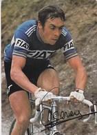 Sports Cyclisme Patrick Sercu Champion D'Europe Avec Publicité Voiture  Fiat - Cyclisme