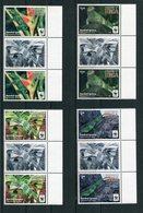 """WWF - Tonga - Mi.Nr. 2098 / 2101 Gutter Pair - """"Kurzkammleguan"""" ** / MNH (aus Dem Jahr 2016) - W.W.F."""