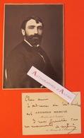 CDV Autographe Antonin MERCIE Peintre Sculpteur Né à Toulouse - Membre De L'Institut - Carte De Visite Lettre L.A.S - Autographes