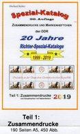 DDR 2019 Katalog Teil 1 RICHTER Neu 25€ Zusammendruck Varianten Zierfeld+Leerfeld Se-tenant Special Catalog Germany - Livres, BD, Revues