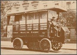 GWR Electric Delivery Van In 1909 At Paddington, 1985 - British Rail Postcard - Camion, Tir
