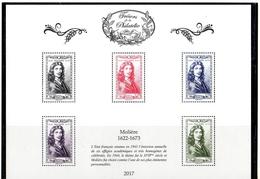 """FRANCE 2017 / BS39 """"TRESORS DE LA PHILATELIE-Molière"""" 4ème ENSEMBLE DE 10 BF / NEUF RARE.... - Blocs & Feuillets"""