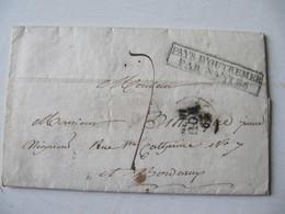 LETTRE , MARQUE POSTALE,    1830  CAYENNE   Vers  BORDEAUX       BON ETAT - Marcophilie (Lettres)