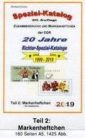 DDR 2019 Katalog Teil 2 RICHTER Neu 25€ Standard Markenheftchen+Abarten Booklet+error Special Catalogues Bf Germany - Catalogues
