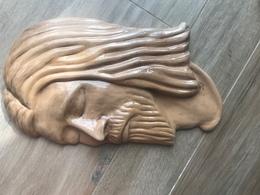 Fantastica Scultura Faccia Di Gesù Cristo Fratelli Falvo Rogliano Grandi Dimensioni - Ceramica & Terraglie