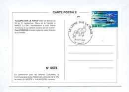 Carte Cachet Nancy Livre Sur Place  Vue Affiche - Marcophilie (Lettres)