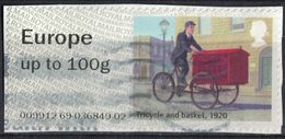 Royaume Uni 2018 Vignette Europe Le Courrier à Vélo Tricycle And Basket SU - Variedades, Errores & Curiosidades