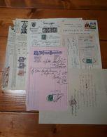 1910 - 1961 LOTTO Di Documenti Con 43 MARCHE DA BOLLO Fiscali VARIE - VEDI FOTO - 1900-44 Vittorio Emanuele III
